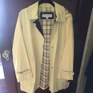 Liz Claiborne Yellow Rain Coat